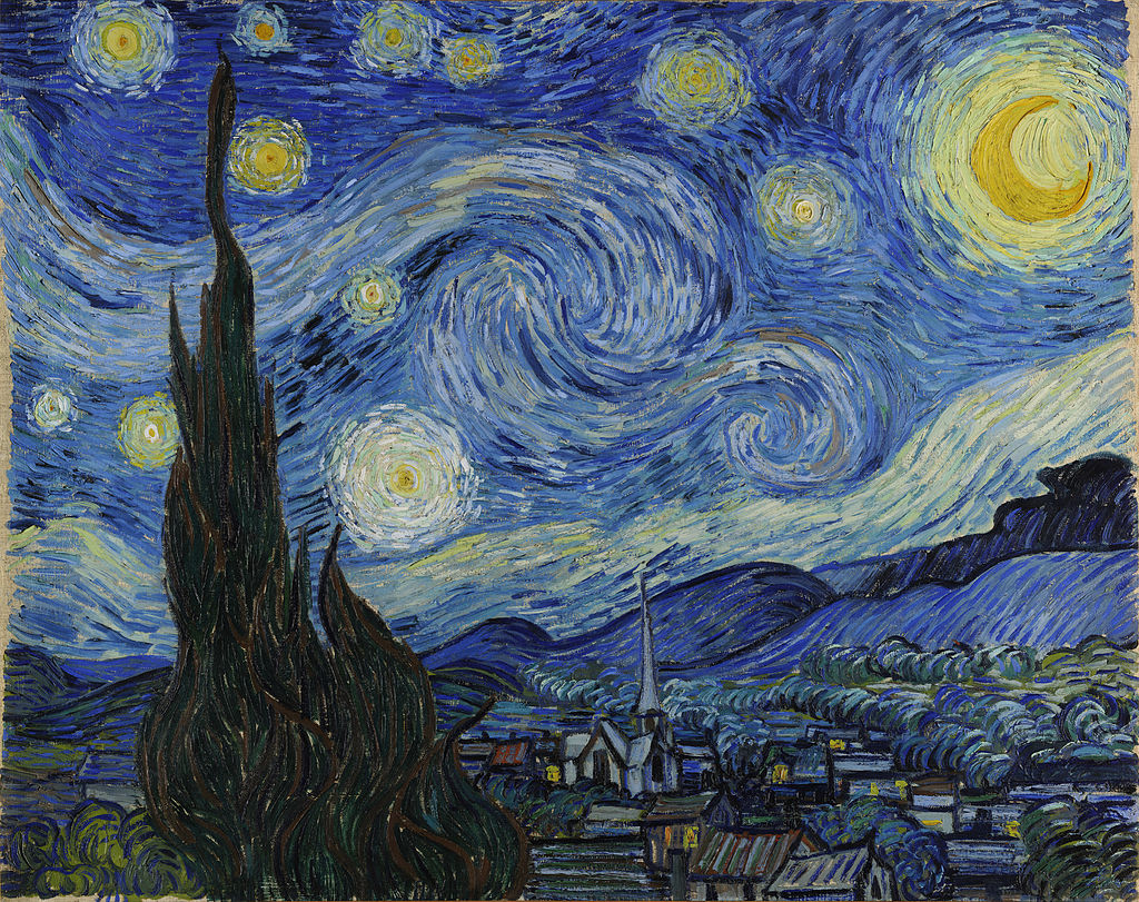 Van Gogh Sterrennacht 1889 wikicommons
